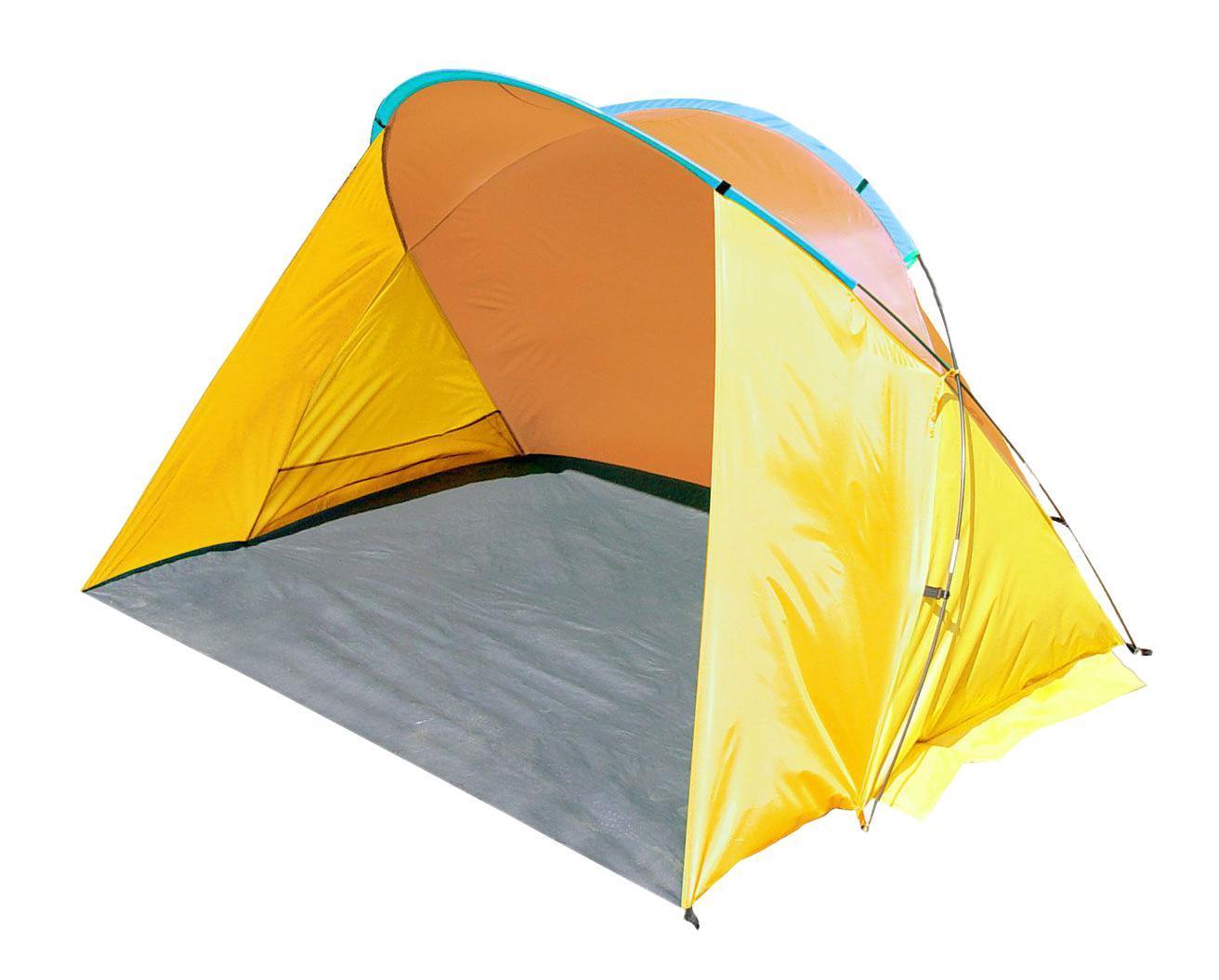"Тент пляжный TREK PLANET ""Miami Beach"", цвет: желтый, оранжевый, 200 см х 150 см х 125 см"