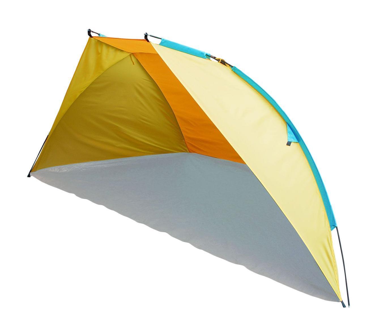 Тент пляжный TREK PLANET Carribean Beach, цвет: желтый, оранжевый, 270 см х 120 см х 120 см шатер тент trek planet event dome четырехугольный 425 х 425 х 235 см цвет синий голубой