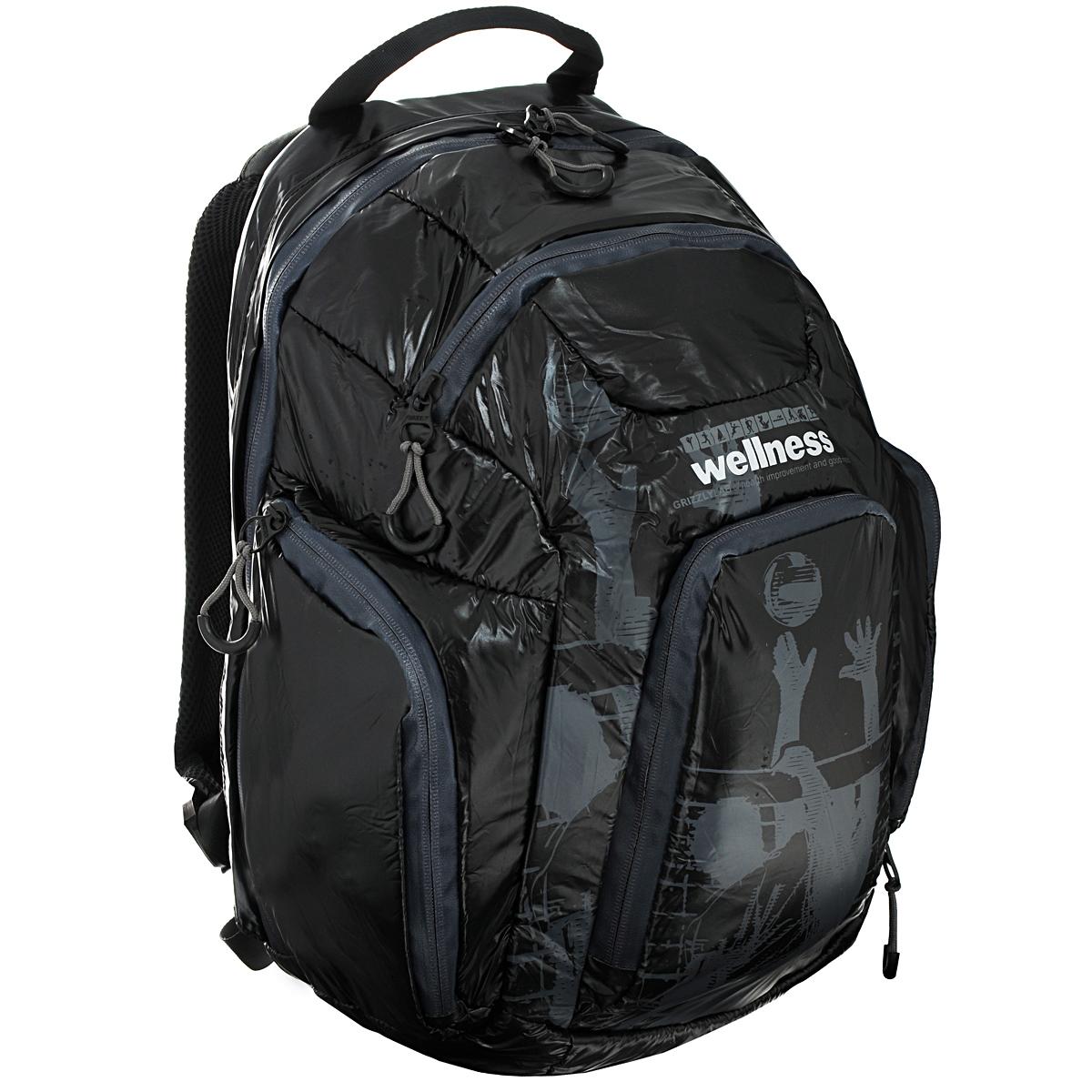 Рюкзак молодежный Grizzly, цвет: черный, серый. RU-417-1 цены