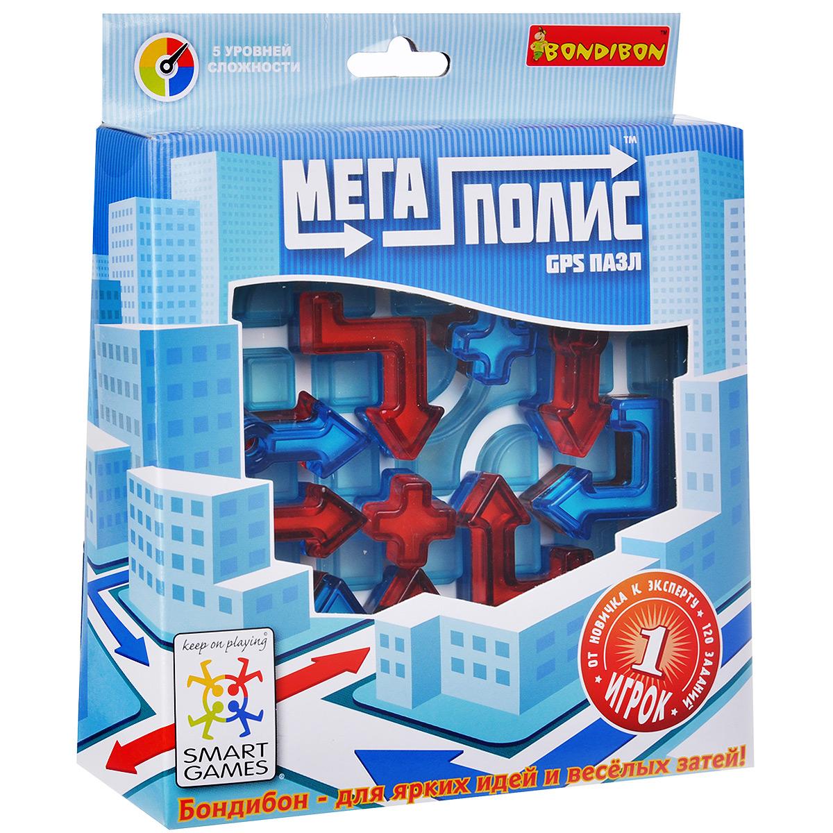 Bondibon Обучающая игра Мегаполис-GPS пазл bondibon логическая игра парковка пазл вв1887