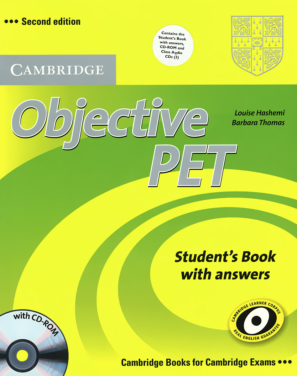 Objective PET: Student's Book with Answers (+ CD-ROM и 3 CD) objective advanced student s book without answers cd