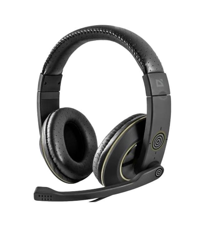 цена на Игровая гарнитура Defender Warhead G-110 черный, кабель 2,1 м