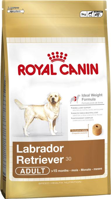 Корм сухой Royal Canin Labrador Retriever Adult, для собак породы лабрадор ретривер старше 15 месяцев, 12 кг