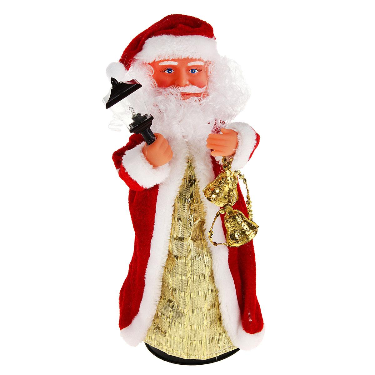 Новогодняя декоративная фигурка Sima-land Дед Мороз, анимированная, высота 28 см. 827831 игровые фигурки новогодняя сказка кукла дед мороз сидячий 43 см
