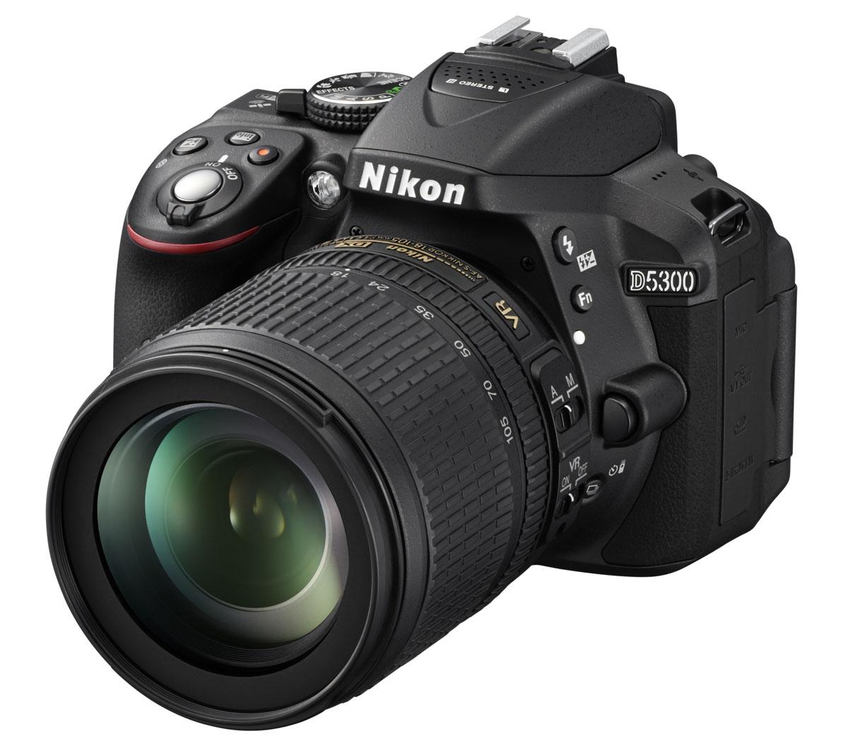 Зеркальный фотоаппарат Nikon D5300 Kit 18-105 VR, Black