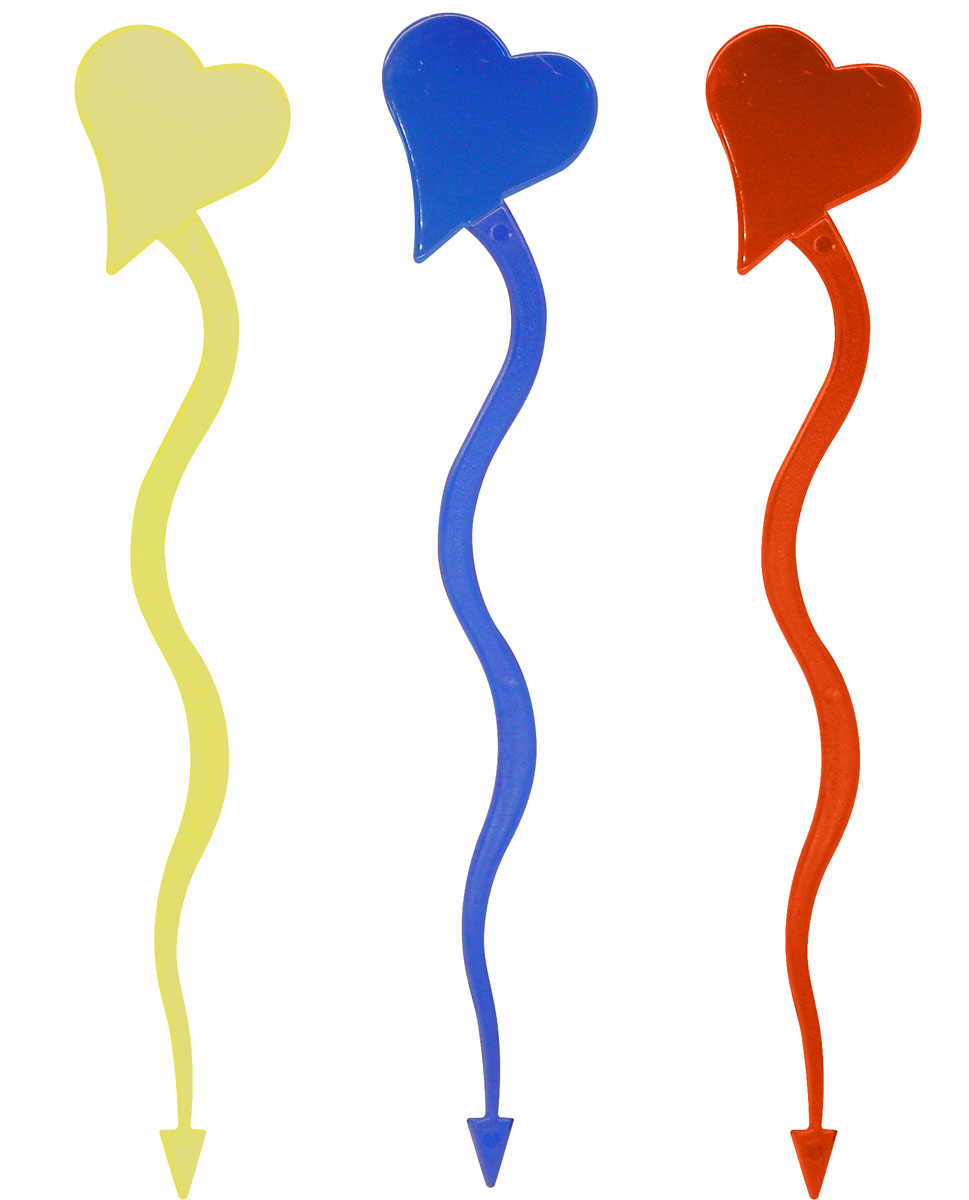 Палочки для коктейля Fackelmann Сердце, цвет: синий, желтый, красный, длина 18 см, 10 шт палочки для коктейля fackelmann сердце цвет синий желтый красный длина 18 см 10 шт