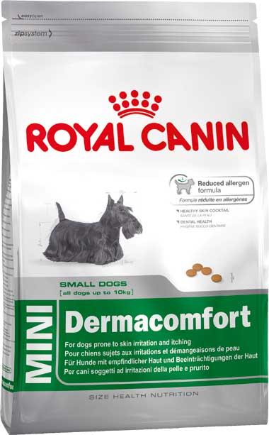 """Корм сухой Royal Canin """"Mini Dermacomfort"""", для собак мелких пород, при раздражениях и зуде, 800 г"""