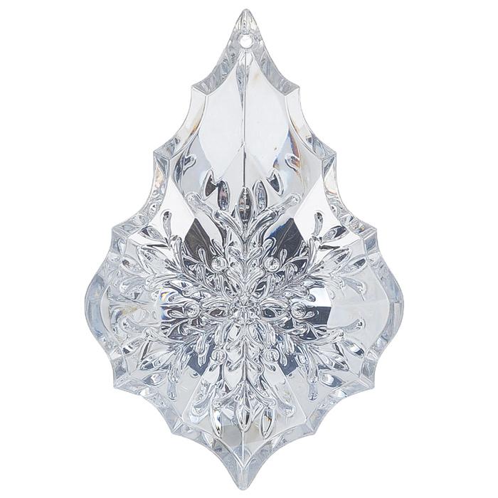 Новогоднее подвесное украшение Феникс-Презент Капелька, цвет: серебристый, 6,5 см х 10 см цена