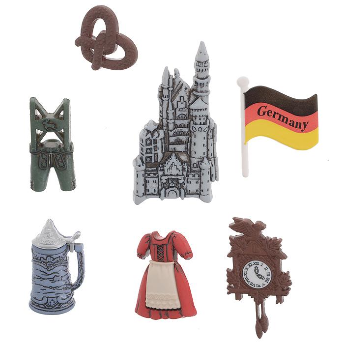"Набор пуговиц и фигурок Dress It Up ""Германия"", 7 шт. 7704052"
