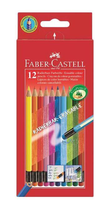 Цветные карандаши COLOUR PENCILS с ластиками,с местом для имени, набор цветов, в картонной коробке, 12 шт. акварельные карандаши colour pencils с кисточкой набор цветов в картонной коробке 12 шт