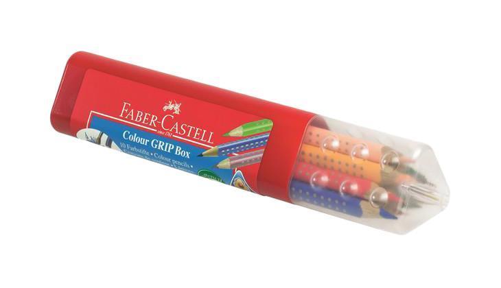 Цветные карандаши GRIP 2001, набор цветов, в пластмассовой тубе, 10 шт. faber castell акварельные карандаши рыбки с кисточкой 36 шт