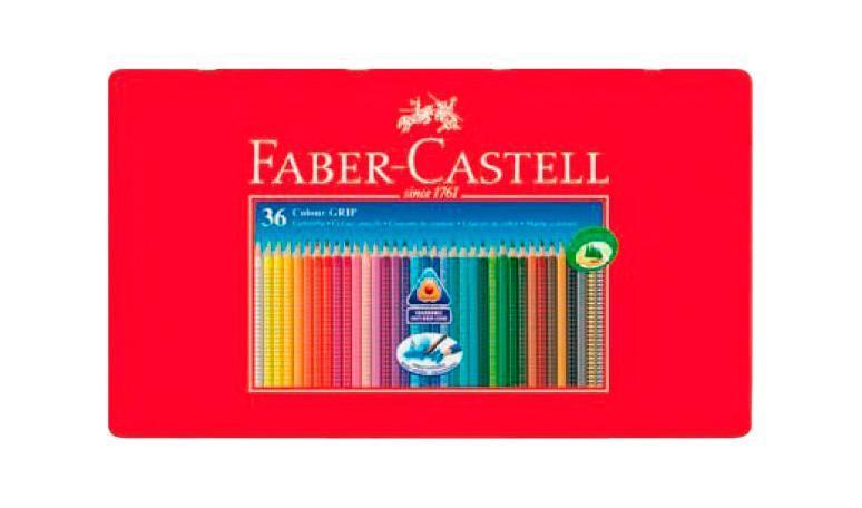 Цветные акварельные карандаши GRIP 2001, набор цветов, в металлической коробке, 36 шт. faber castell акварельные карандаши рыбки с кисточкой 36 шт