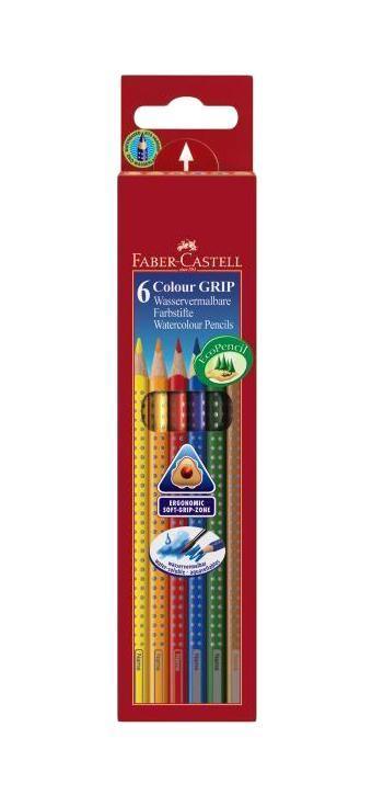 Цветные карандаши GRIP 2001, набор цветов, в картонной коробке, 6 шт. faber castell акварельные карандаши рыбки с кисточкой 36 шт