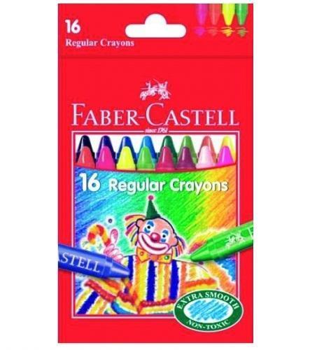 Восковые карандаши КЛОУН, набор цветов, в картонной коробке, 16 шт. акварельные карандаши colour pencils с кисточкой набор цветов в картонной коробке 12 шт