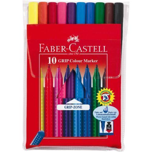 Фломастеры GRIP, набор цветов, в футляре,10 шт. капиллярная ручка grip 0 4мм набор цветов в тубе 10 шт