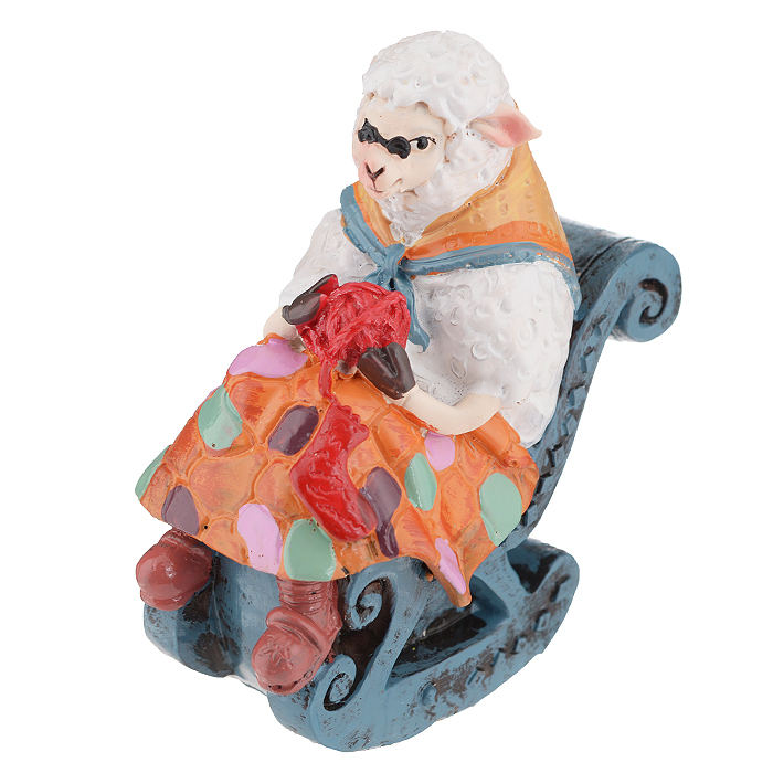 Фигурка декоративная Овечка в кресле-качалке, 7,8 х 4,9 х 8,5 см 34551 феникс презент декоративная фигурка из полирезины 7 7x2 3x4 5