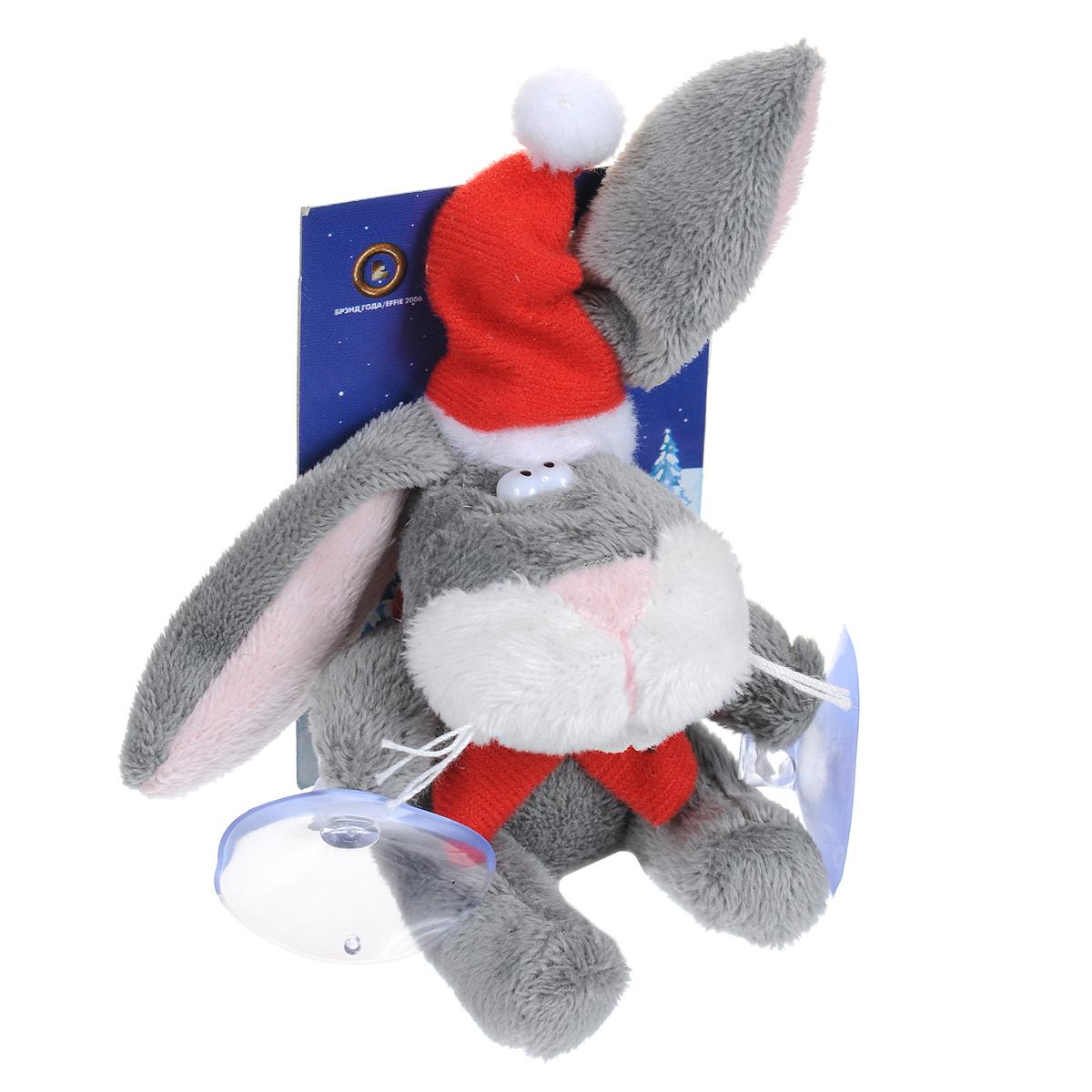 Мягкая игрушка Кролик, на присосках игрушка новогодняя мягкая mister christmas пряничная девочка высота 13 см