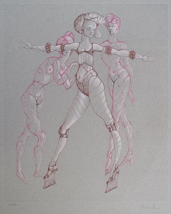 Сцена танца. Леонор Фини. Гравюра. Франция, 1970 год шампунь леонор