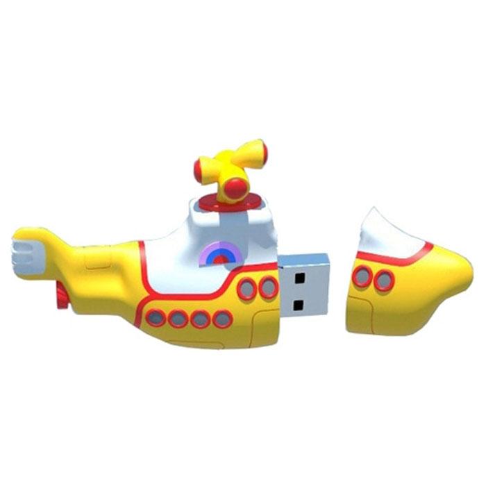 Iconik Желтая подводная лодка 16GB USB-накопитель подводная лодка подводная лодка угол 5 комплектов общей горячая и холодная вода 4 минуты taocifaxin символов треугольник клапан порт клапан