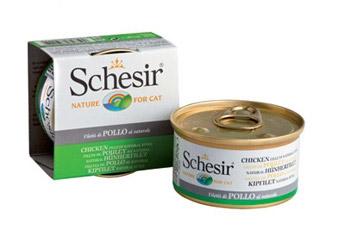 Консервы для кошек Schesir, с цыпленком в собственном соку, 85 г консервы schesir для кошек 85 г 85 г куриное филе и ветчина