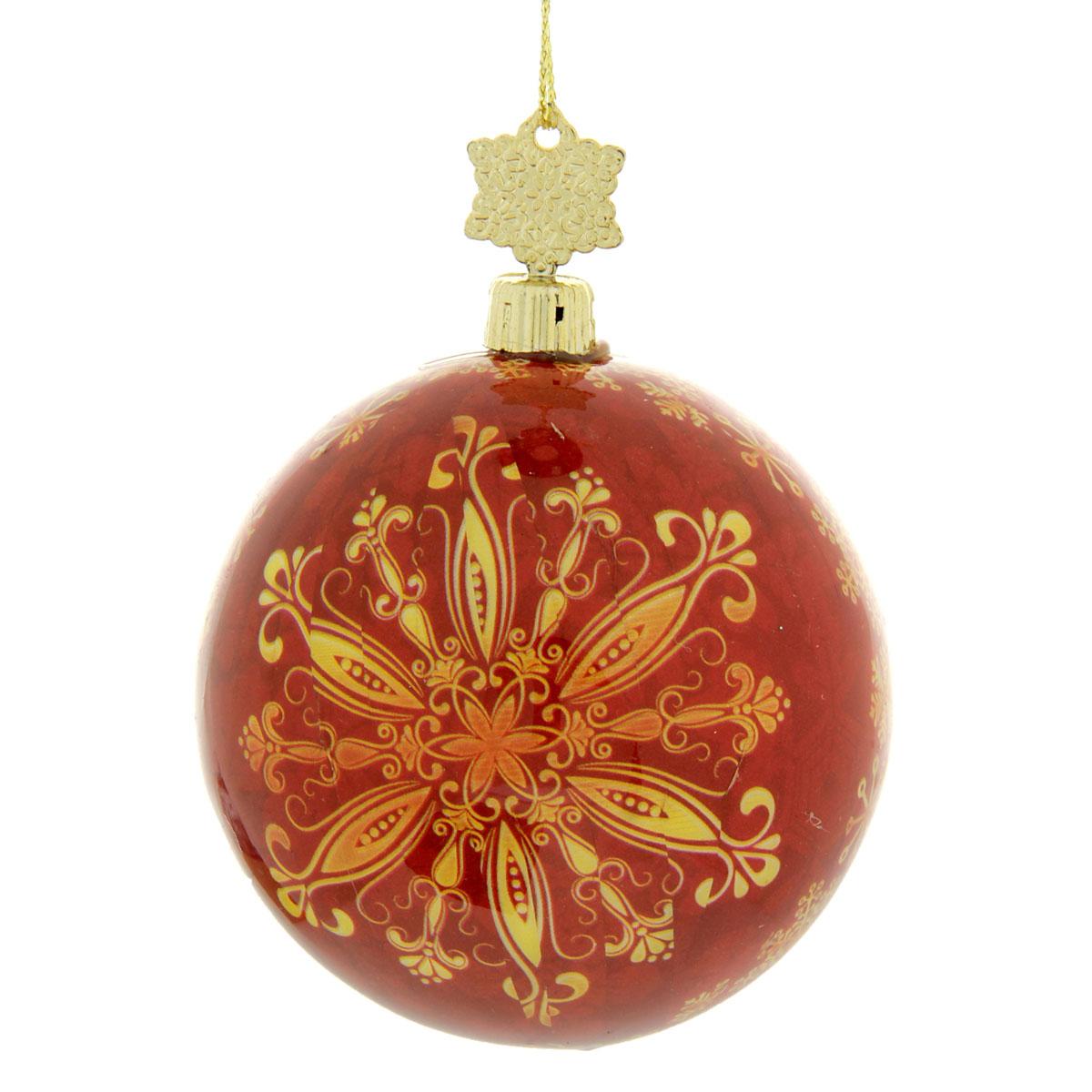 Новогоднее подвесное украшение Sima-land Шар, диаметр 8 см. 279339 новогоднее подвесное украшение sima land зимний узор диаметр 10 см
