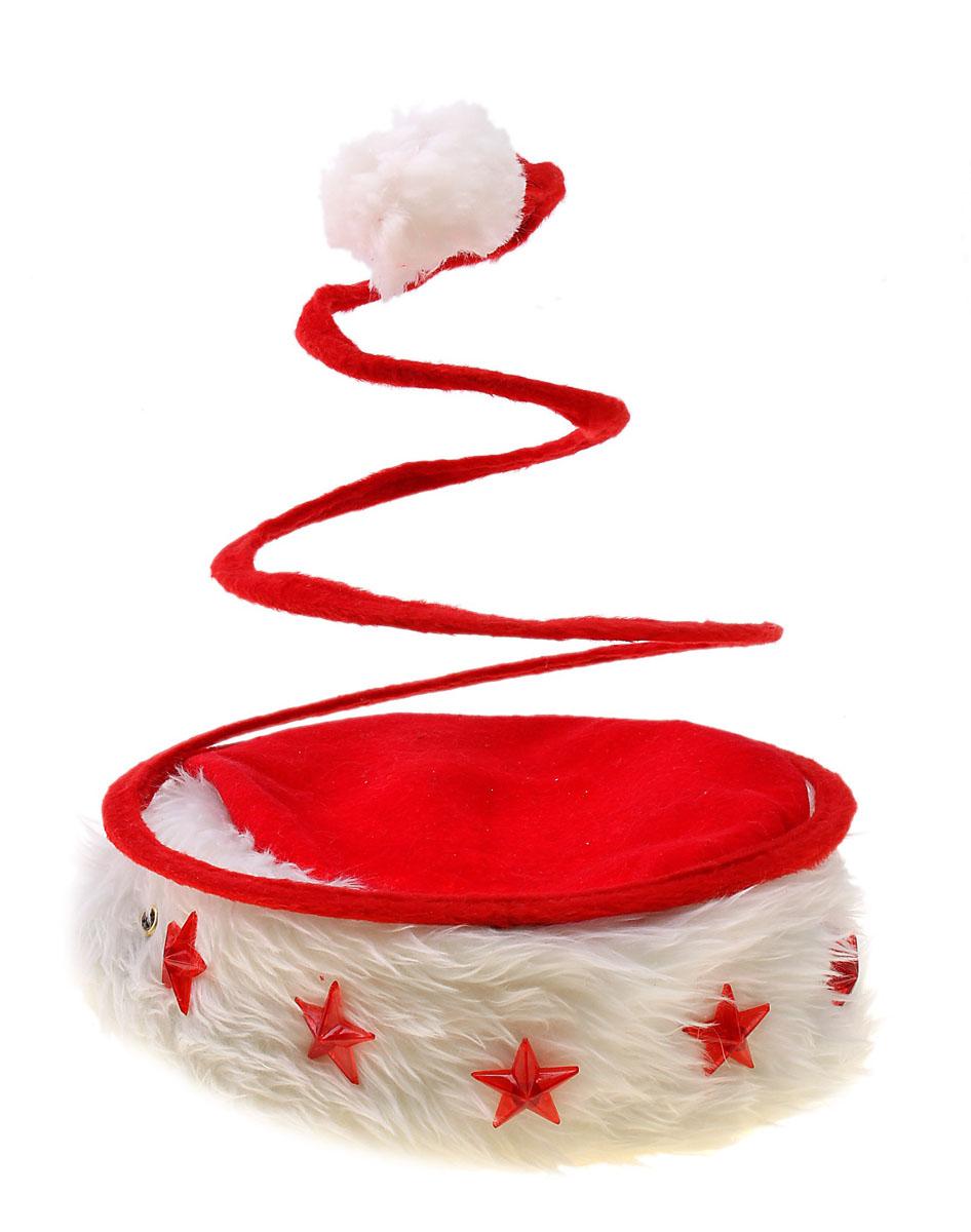 Колпак новогодний Sima-land, светящийся, цвет: красный. 703851 колпак новогодний снежинки 719616