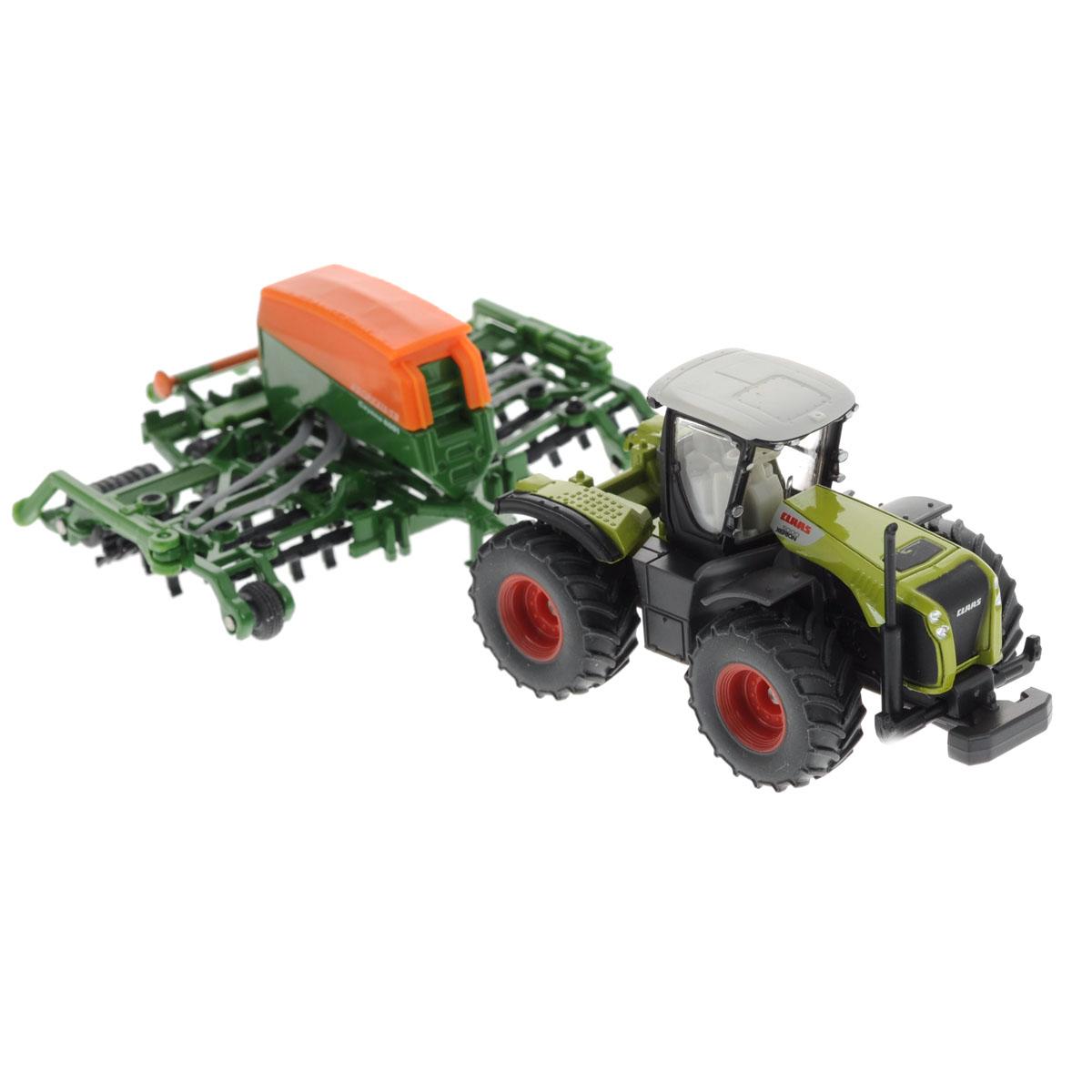 Siku Трактор Claas Xerion с сеялкой Amazone Cayenna 6001 siku трактор john deere с пресс подборщиком
