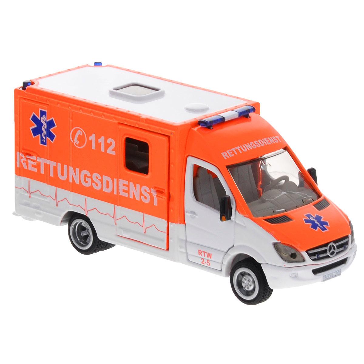 Siku Скорая помощь Mercedes Sprinter набор машинок siku скорая помощь