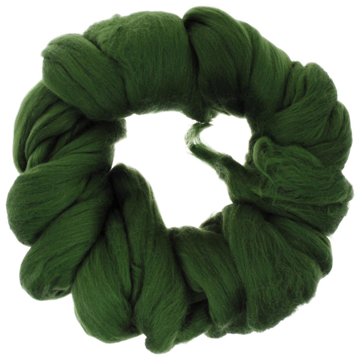 Шерсть для валяния Астра, тонкая, цвет: морские водоросли (1384), 100 г шерсть для валяния астра тонкая цвет розовый 0160 100 г