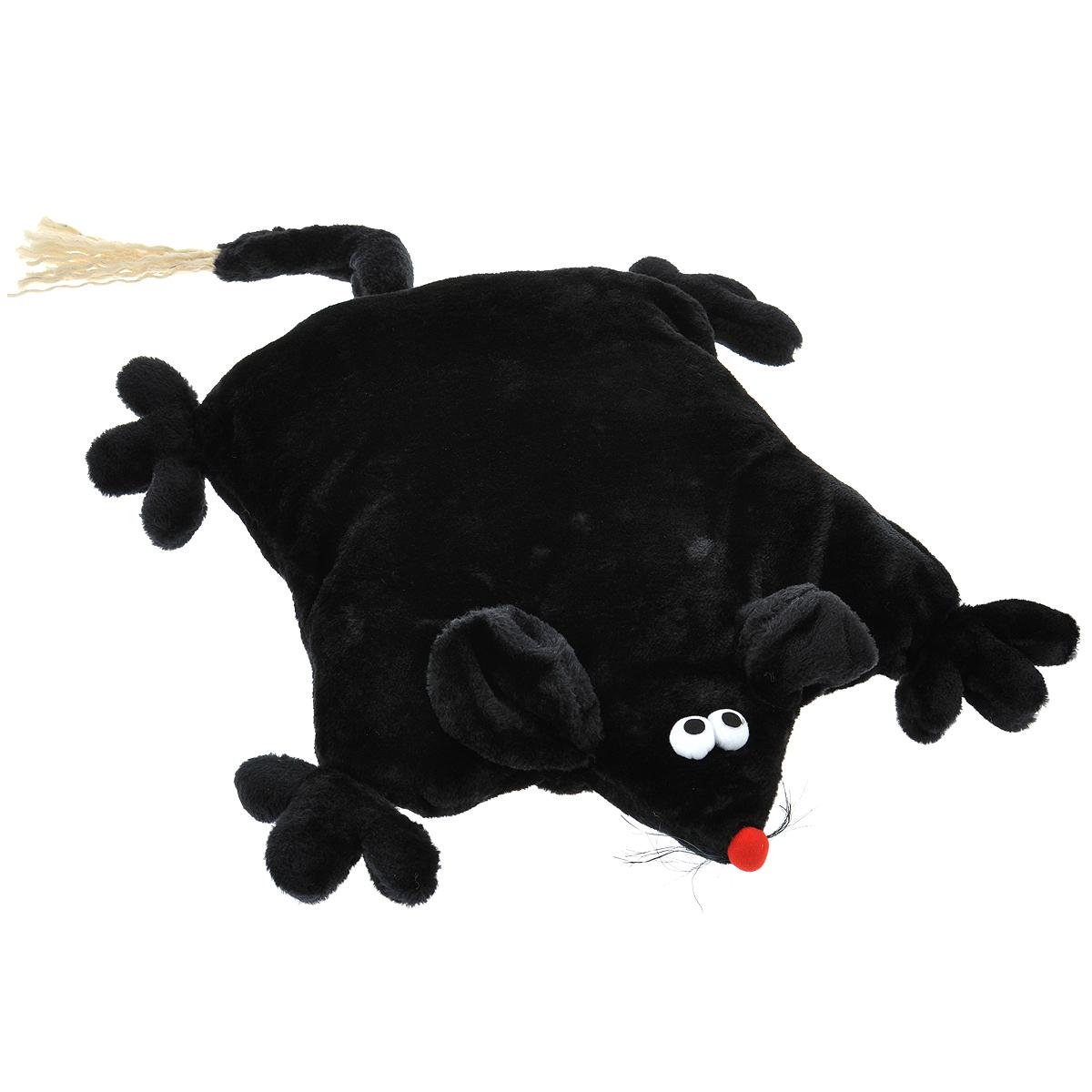 """Лежанка для кошек I.P.T.S. """"Мышь"""", цвет: черный, 45 см х 59 см х 9 см"""