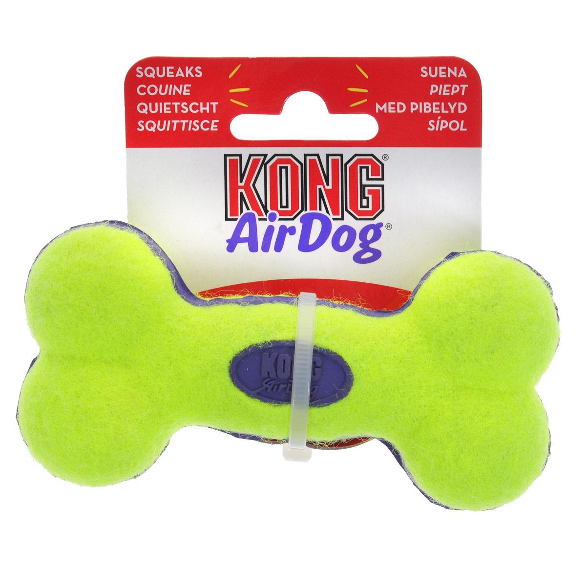 Игрушка для собак Kong Air Косточка. ASB3 игрушка для собак kong косточка средняя с пищалкой цвет фиолетовый 15 5 х 6 5 х 3 5 см