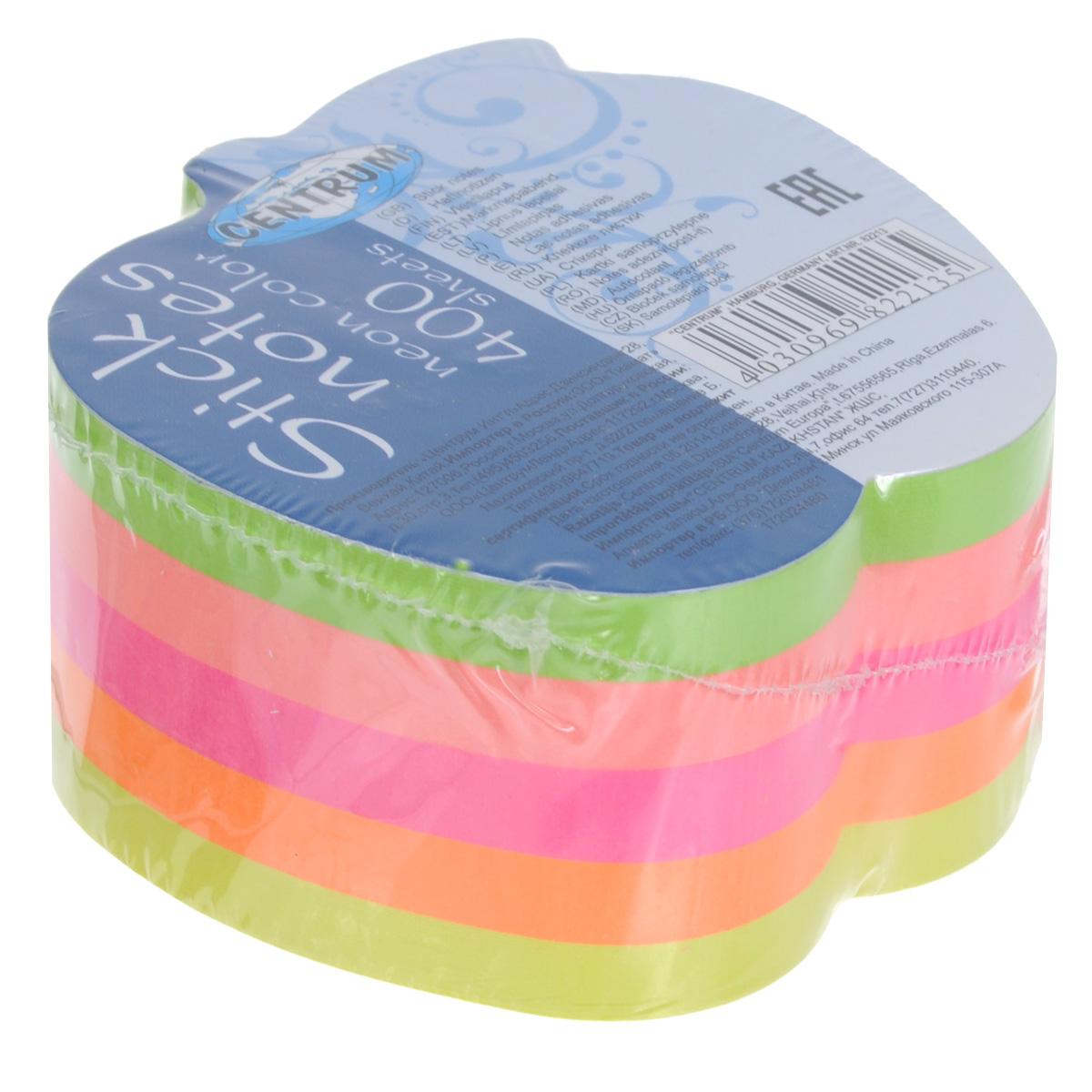 Блок для записей Centrum, с липким слоем, 7,2 см х 7 см блок закладка с липким слоем разм 12х44мм пластик 5 цветов по 25л диспенс с ев п