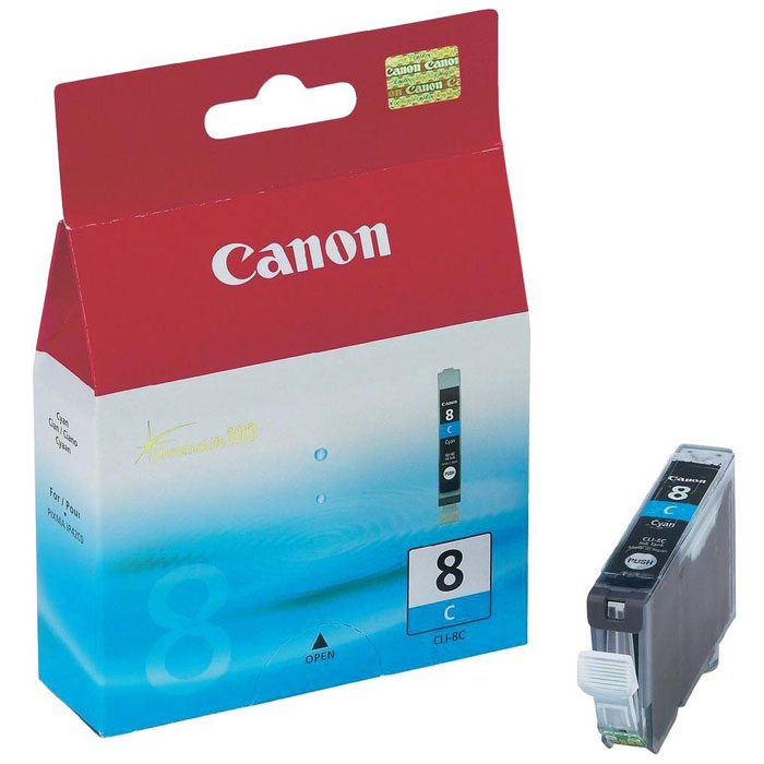 Картридж Canon CLI-8, голубой, для струйного принтера, оригинал