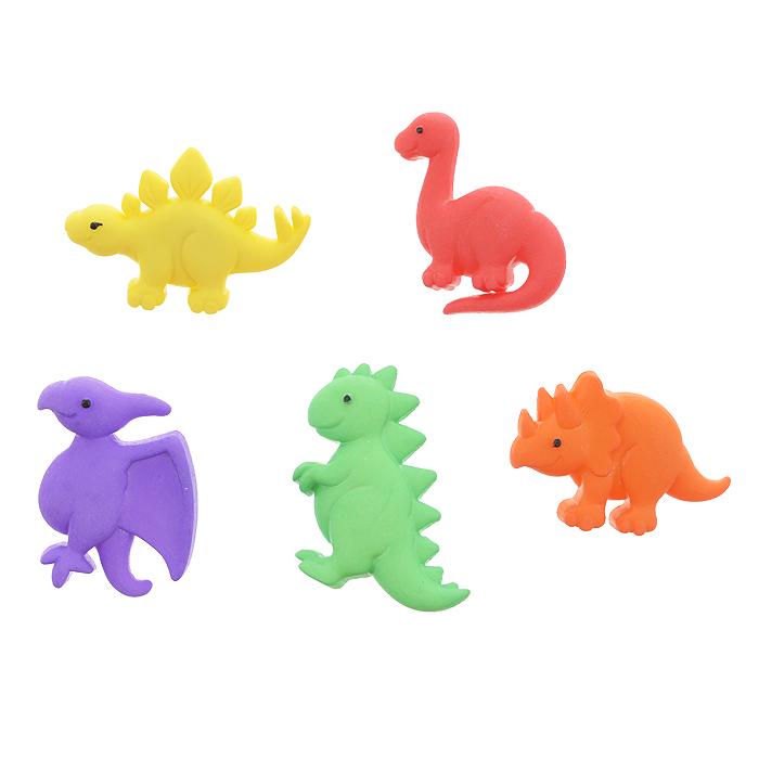 """Пуговицы декоративные Dress It Up """"Динозавры"""", 5 шт. 7702086"""