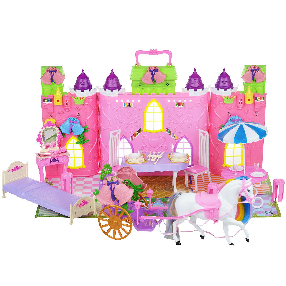 Кукольный домик, с повозкой, лошадью и аксессуарами. 2302