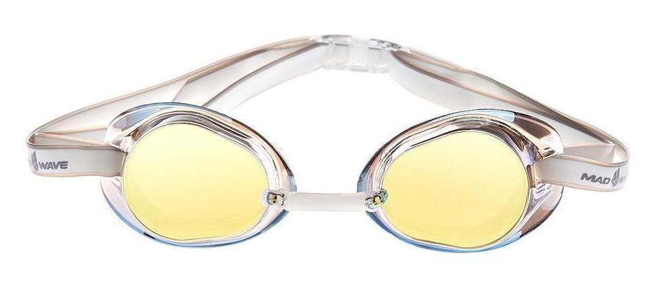 Очки для плавания стартовые MadWave Racer SW Mirror, цвет: желтый очки для плавания стартовые madwave turbo racer ii rainbow цвет фиолетовый