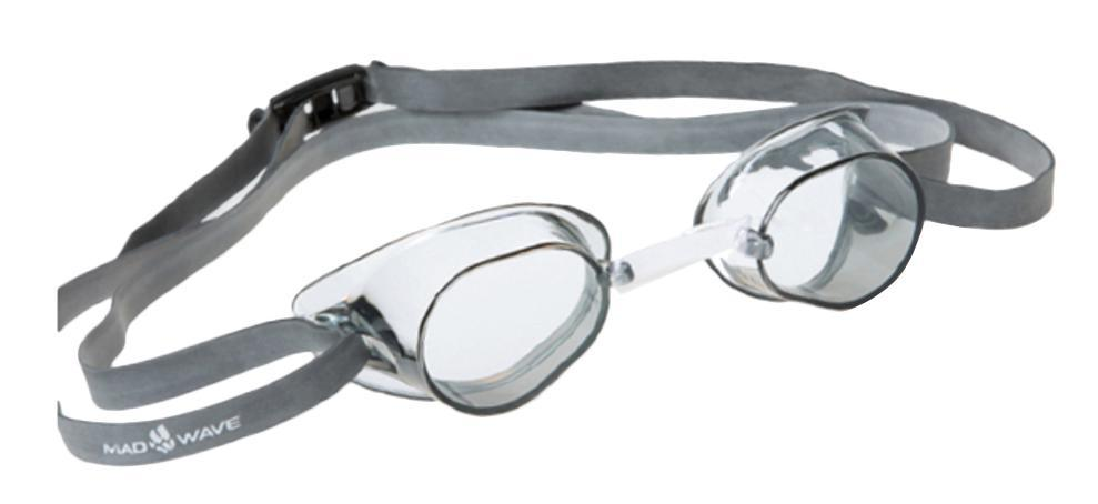 Очки для плавания стартовые MadWave Racer SW, цвет: белый очки для плавания стартовые madwave turbo racer ii rainbow цвет фиолетовый