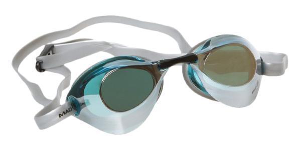 Очки для плавания стартовые MadWave Turbo Racer II Mirror, цвет: черный очки для плавания стартовые madwave turbo racer ii rainbow цвет фиолетовый