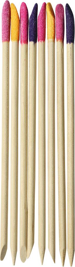 UBU Палочки для кутикулы, с абразивным наконечником, 8 шт. 19-5012 qvs палочки для кутикулы из натурального дерева 10 шт