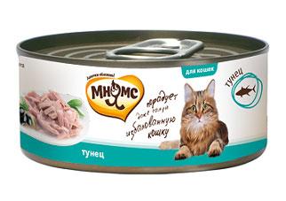 """Консервы для кошек """"Мнямс"""", с тунцом, 70 г"""