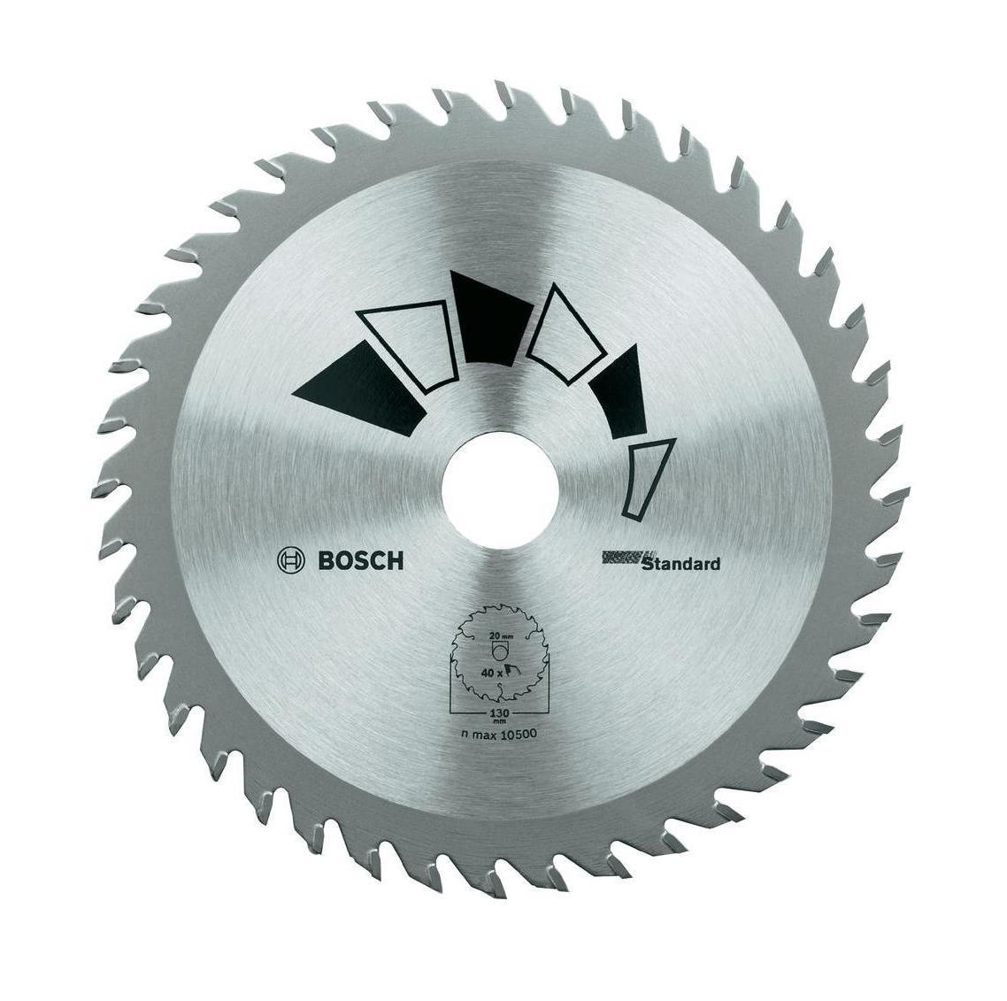 Диск пильный Bosch Standard по дереву, 130 мм2609256802Твердосплавный пильный диск Bosch используется с циркулярными пилами для быстрых/грубых пропилов в твердой и мягкой древесине. Диаметр диска: 13 см; Количество зубьев: 18; Посадочный диаметр: 20/16 мм.