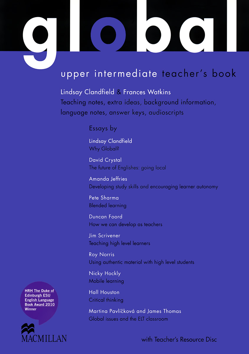 Global: Upper-Intermediate: Teacher's Book (+ CD-ROM)