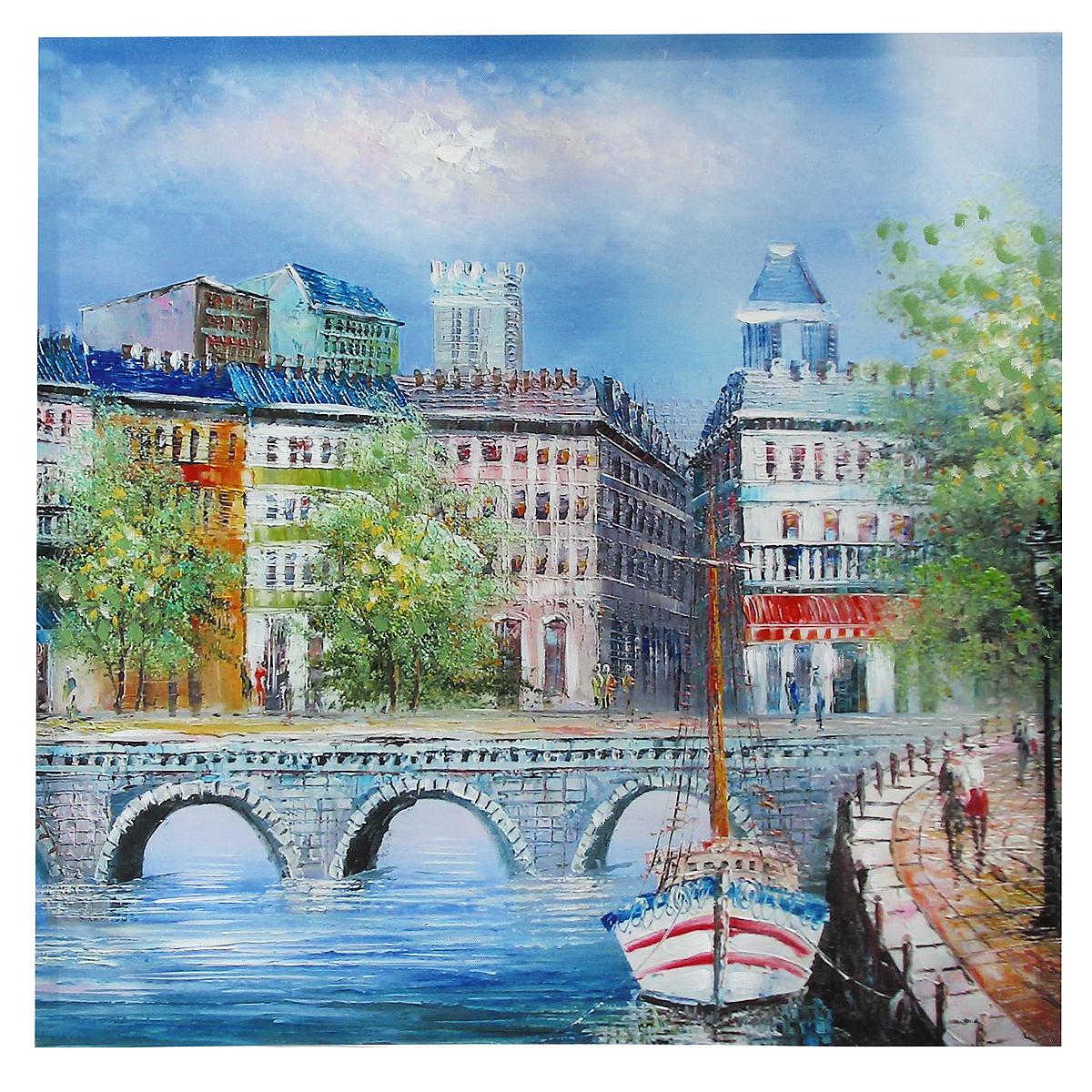 Картина-репродукция на холсте Мост, без рамки, 60 см х 60 см. 36021 квикдекор картина на холсте танцы фей и эльфов 60 см х 40 см