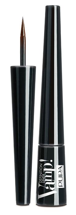PUPA Подводка для глаз тон 200 с фетровым аппликатором VAMP! DEFINITION LINER, коричневый,2,5 мл. pupa vamp definition liner подводка для глаз с фетровым аппликатором тон 301 синий электрик
