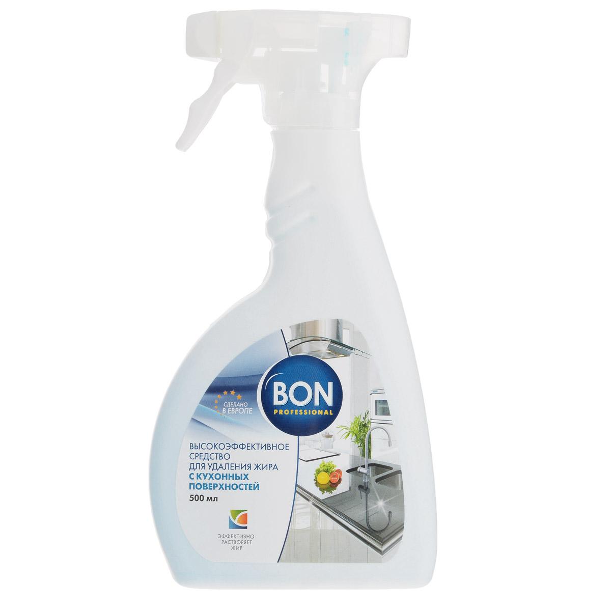Чистящее средство для кухонных поверхностей Bon, 500 мл жидкость для удаления жира с кухонных поверхностей мистер чистер 500 мл