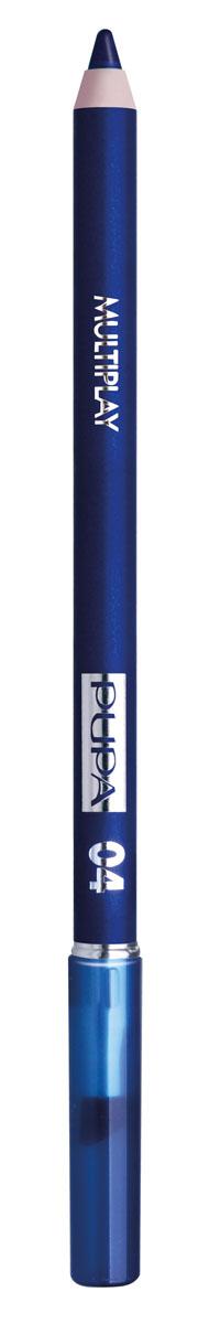 PUPA Карандаш для век с аппликатором Multiplay Eye Pencil, тон 04 изумительный синий , 1.2 г lavellecollection карандаш pl12 двойной с точилкой тон 22 черный синий 7 г
