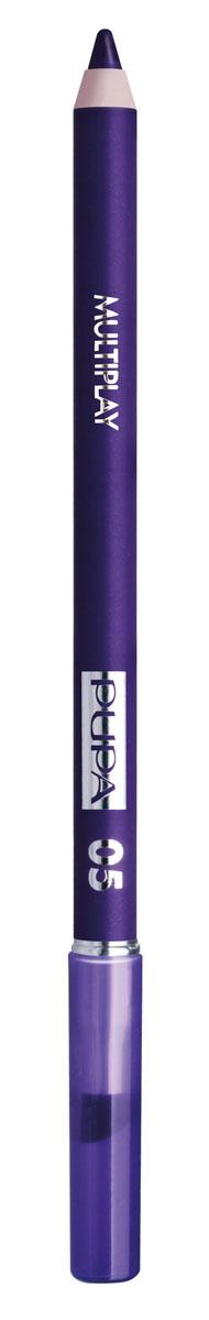 PUPA Карандаш для век с аппликатором Multiplay Eye Pencil, тон 05 насыщенный фиолетовый , 1.2 г цена