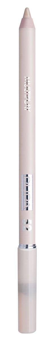 PUPA Карандаш для век с аппликатором Multiplay Eye Pencil тон 52 Бледный бежевый,1,2 гр. карандаш для глаз pupa easy liner eyes 1 1 гр тон 549
