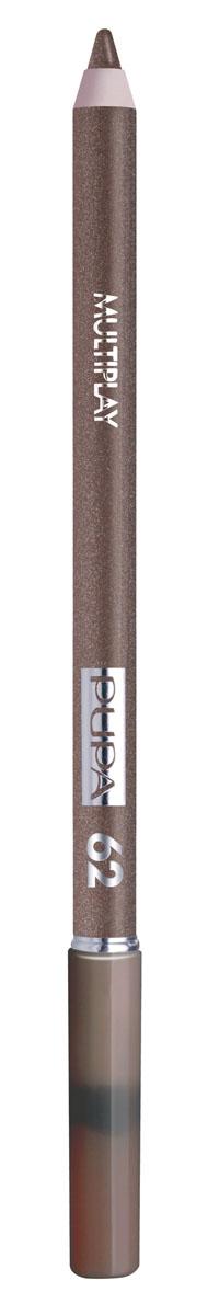 PUPA Карандаш для век с аппликатором Multiplay Eye Pencil тон№62 золотой коричневый, 1.2 г цена