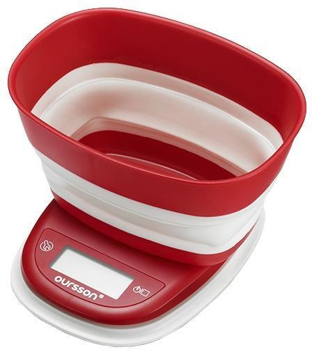 Oursson KS5006PD, Red кухонные весы